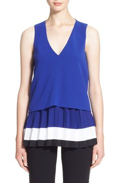 ALTUZARRA 'Rosewood' Pleated Sleeveless Blouse. #altuzarra #cloth #
