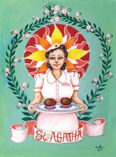 St Agatha by jenwojtowicz on Etsy, $20.00