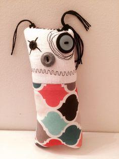Felise the monster Plush Art Doll- By Jen Musatto