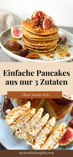 Diese Pancakes sind super schnell gemacht und Du benötigst nur 3 Zutaten. Zudem sind sie saftig und fluffig! Ein Traum.  #pancakes #pancakesrezept #pancakesrezeptgesund #pancakesrezepteinfach #pancakesohneei #pancakesvegan #pancakesrezepteinfachschnell #vegan #frühstückvegan  #haferflockenfrühstück #haferflockenrezept  #haferflocken  #frühstück #frühstücksideen #frühstücksideengesund #frühstückabnehmen