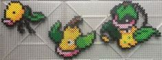 #069-#071 Bellsprout Family Perlers by TehMorrison
