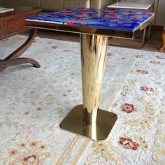 Golden Horn Coffee Table Base with unique İznik Tile Table Bases, Metal Table Legs, Coffee Table Base, Coffee And End Tables, Steel Sofa, Golden Horn, Tile Saw, Sofa Legs, Interior Design
