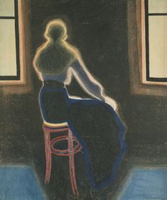 Leon Spilliaert, Young lady sitting on a Tabouret, 1909