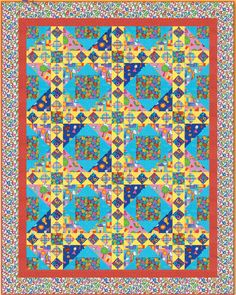 What do you think of when you think of happy colors?  Yellows and blues and reds do it nicely in this wonderful project by Heidi Pridemore of Blank Quilting.  This is a great project for any level of quilter, so dive in and sew up some happiness! http://www.freequiltpatterns.info/free-pattern---color-me-happy-quilt-by-heidi-pridemore.htm