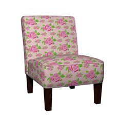 Maran Slipper Chair featuring Watercolor Rose Garden MEDIUM - petal by drapestudio | Roostery Home Decor