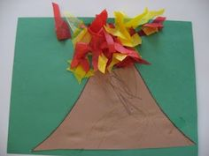 v is for volcano and yes I do want to let kids do mini volcanos with vinegar and baking soda week too...