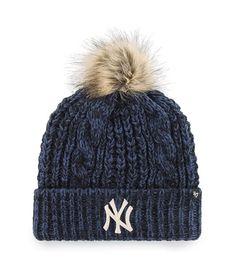 47 Brand Knit Beanie Metallic New York Yankees Black