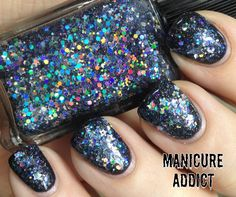 Lynnderella The Stars In Her Eyes over Cult Nails Blackout