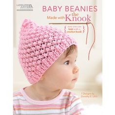 These baby beanies are a joy to create, because the new Knook makes knitting fun! This specialized crochet hook creates true knitted fabric, while the attached cord completely prevents dropped stitches! Crochet For Kids, Crochet Baby, Knit Crochet, Knitted Fabric, Crochet Things, Free Crochet, Loom Knitting, Baby Knitting, Knitting Patterns