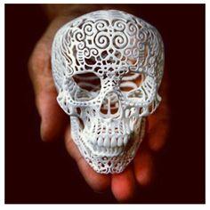 #white #skull #art