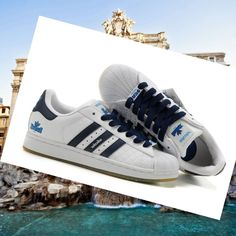 newest collection 1581c 91e54 Adidas Adicolor Superstar 2 Sneakers for men whitedark blue HOT SALE! HOT  PRICE