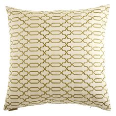 @Overstock - Lattice Decorative Feather Filled 24-inch Throw Pillow - In complementing neutral tones, this charming accent pillow boasts a geometric lattice-like pattern for added textural interest to complement your contemporary home. Featuring a soft feather fill, this stylish pillow is wrapped in a cotton-rayon fabric.   http://www.overstock.com/Home-Garden/Lattice-Decorative-Feather-Filled-24-inch-Throw-Pillow/8947200/product.html?CID=214117 $79.99