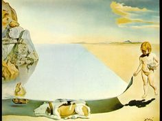 Dali at the Age of Six When He Thought He Was a Girl Lifting the Skin of the Water to See the Dog Sleeping in the Shade of the Sea 1950, by Salvador Dali
