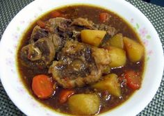 Oxtail With Potato And Carrot Stew Recipe -  Yummy this dish is very delicous. Let's make Oxtail With Potato And Carrot Stew in your home!