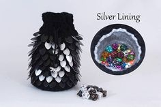Hey, I found this really awesome Etsy listing at https://www.etsy.com/listing/533326023/large-lined-dice-bag-silver-crescent