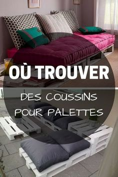 Coussin Palette : Guide d'Achat 2019 (+ Bons Plans) - Home ideas and Palette Couch, Banquette Palette, Palette Furniture, Pallet Furniture Cushions, Diy Furniture, Outdoor Furniture, Furniture Movers, Furniture Stores, America Furniture