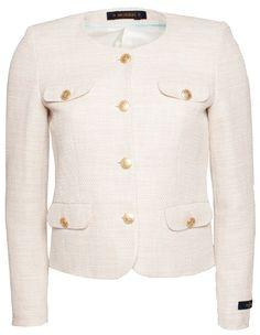 Morris Lady Kennedy Ministripe Off White Blazer