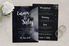 Einladungskarten - Einladung zur Hochzeit | Sterne, Mond, Nachthimmel - ein Designerstück von goodluv-design bei DaWanda  #stardust #moon #stars #invitationtrends #summerwedding #weddinginvitation #bridetobe #instabride #love #papeterie #bohowedding #weddingflowers #dawanda #etsy #goodluvdesign Marry Me, Moon Stars, Etsy, Bride, Wedding, Inspiration, Design, Paper Mill, Night Skies