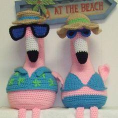 Crochet Village Pink Flamingos New Pattern FREE by CrochetVillage