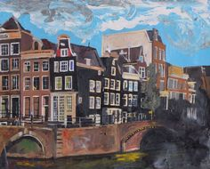 Buy Amsterdam, Canal Junctions, Acrylic painting by Andrew  Reid Wildman on Artfinder. Discover thousands of other original paintings, prints, sculptures and photography from independent artists.