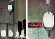 Test out your spider strength skills in this promotional urinal for Spiderman 2