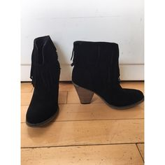 Black Fringe Boots Brand: Nature Breeze. Never been worn and in perfect condition. Shoes Ankle Boots & Booties