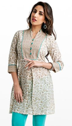 South Cotton Kurti with Yoke | Naari