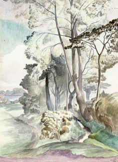 John Nash (English, 1893-1977) - The Brook, 1934
