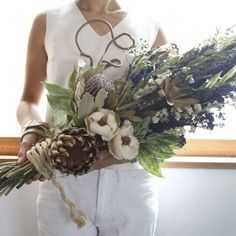 huge dried swag or can be bouquet?