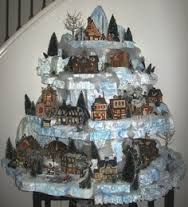 christmas village christmas trees - Google Search