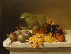 Johann Wilhelm Preyer, STILL LIFE PLUMS, GRAPES AND NUTS, Auction 969 Old Masters, Lot 1269