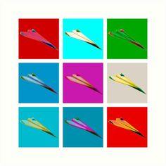 Paper Airplane 22 by YoPedro, prints, t-shirts, stickers...