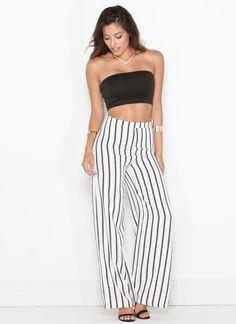 Stripe Camp Wide Leg Trousers