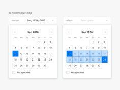 Web App UI  Date Range Selector by Sangwook Park