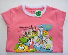Girls Pink Lourdes T-Shirt.