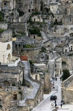 The Medieval village of Matera. Italy