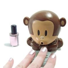 Cute Monkey Shaped Manicure Nail Polish Blower Dryer. Want it? Own it? Add it to your profile on Unioncy.com #gadgets #technology #electronics