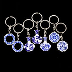 Find More Key Chains Information about Free shipping Top Chinese style China blue and white porcelain round plate vases shape lovers gift keychain tourist souvenir,High Quality porcelain flatware,China souvenir coins Suppliers, Cheap porcelain cup with lid from Coolshow Jewelry on Aliexpress.com
