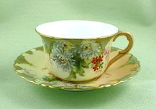 Gorgeous Antique ROYAL WORCESTER Hand Painted Cabinet Cup & Saucer Set
