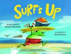 Surf's up! Not yet, Dude! Books are boring! Not this one! Bro and Dude have very different ideas about how to spend the day at the beach. But as Bro continues to gasp and cheer as he reads his book (Moby Dick), Dude can't help but get curious. Before you can shout 'Surf's up!' both frogs are sharing the same adventure, that is, until they get to the beach.