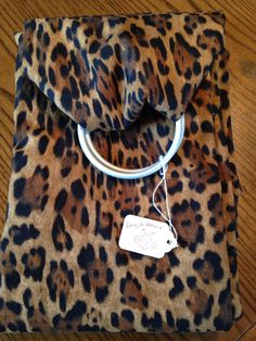 88f6b3957af Ring sling for your pet! This leopard print is 100% cotton and comfortable.  Adjustable sling with a pocket carries up to 30 lbs