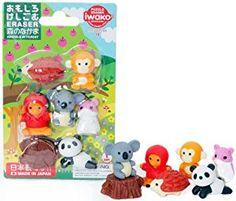 Amazon.com: Iwako Japanese Kawaii Animal Eraser Set: Toys & Games