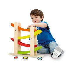 Pin for Later: The Wheel Deal: 36 Toys For Transportation-Loving Tots! Imaginarium Wooden Ramp Racer Send a series of minicars zigzagging up and down the track with The Imaginarium's wooden Ramp Racer ($20).