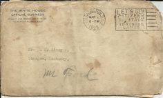 1925 WHITE HOUSE ORIGINAL LETTER Postmarked Typed President Paper Political