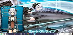 This page  about Free Download themes windows // Tema //7 //seven// 肌//テーマ//画題//窓//ウィンドウ//七つ//skin// Date A Lilve // Theme Anime, Sci Fi, Science Fiction