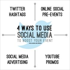 4 Ways to Use Social Media to Boost Your Event. #eventprof #meetingprof