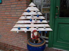 rustikaler primitiver weihnachtsbaum rustic primitive christmas tree, christmas decorations, pallet