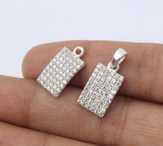 92.5 Sterling Silver Cubic Zirconia Pave by RareGemsNJewels