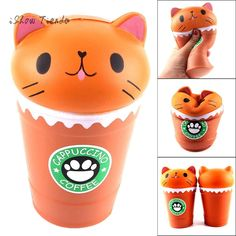 Buy Franterd Cute Coffee Cup Cat - Soft Food Squishies Cream Scented Slow Rising Simulation Lovely Toy -Squeeze Kids Toy - Decompression Educational Toy For Kids and Adults Educational Toys For Kids, Kids Toys, Cute Coffee Cups, Cute Squishies, Cappuccino Coffee, Coffee Cat, Interactive Toys, Pull Toy, Gadget Gifts