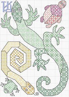 lizard turtle snake & frog